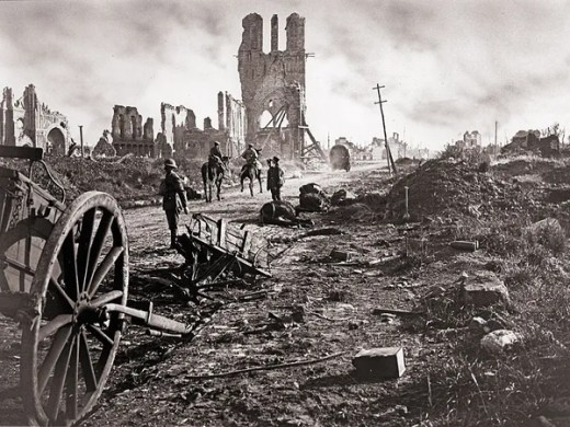 War   Britannica com Cloth Hall  Battle of Ypres