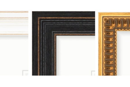 10 Design Trends You ll See in 2018 picture frames in white  black and gold