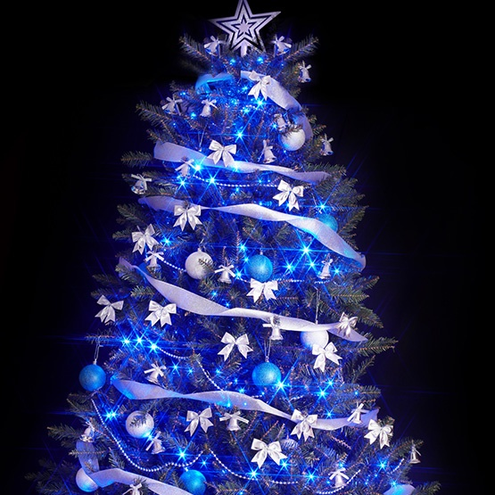 Christmas Lights Blue