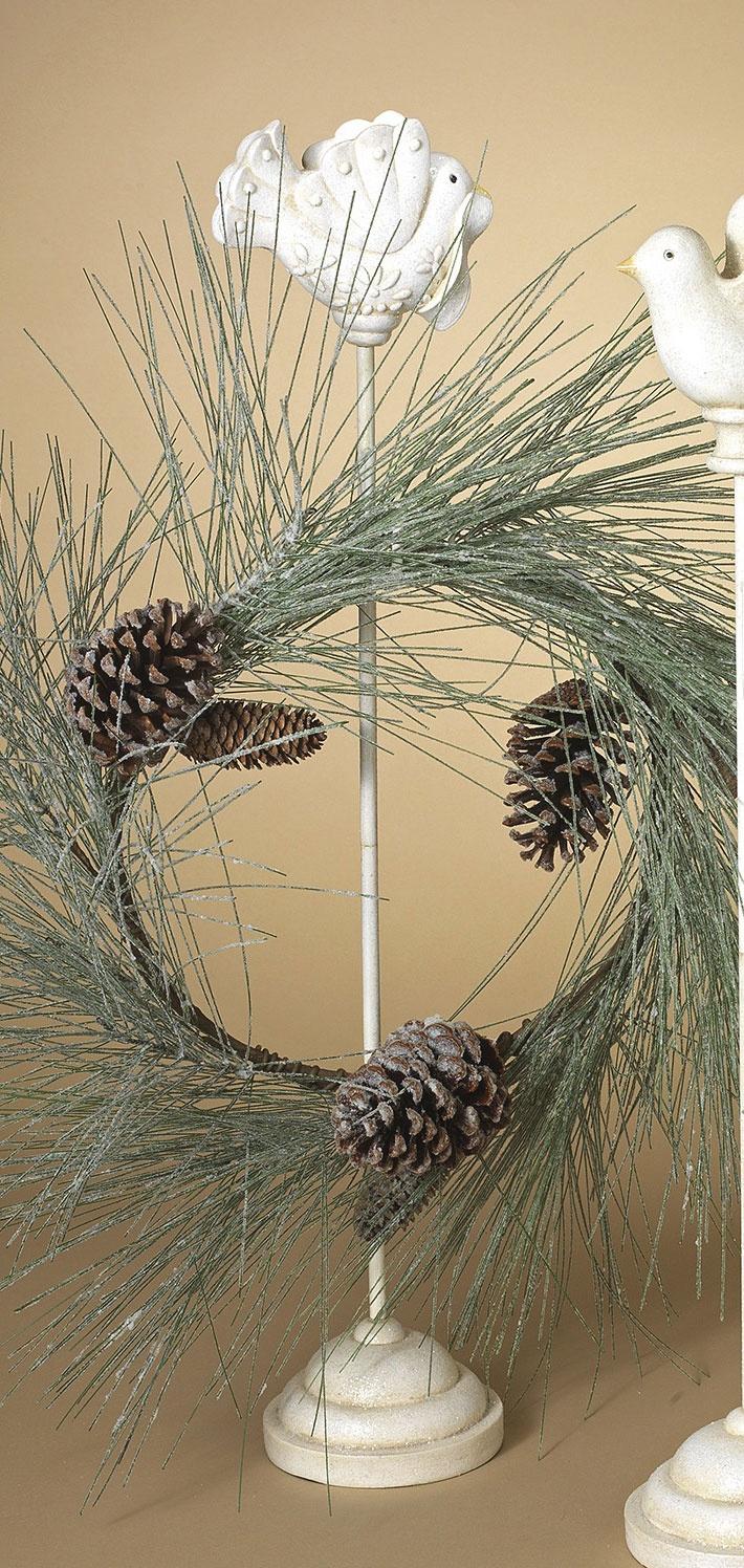 Hanging Accessories Bird Wreath Hanger Stand White
