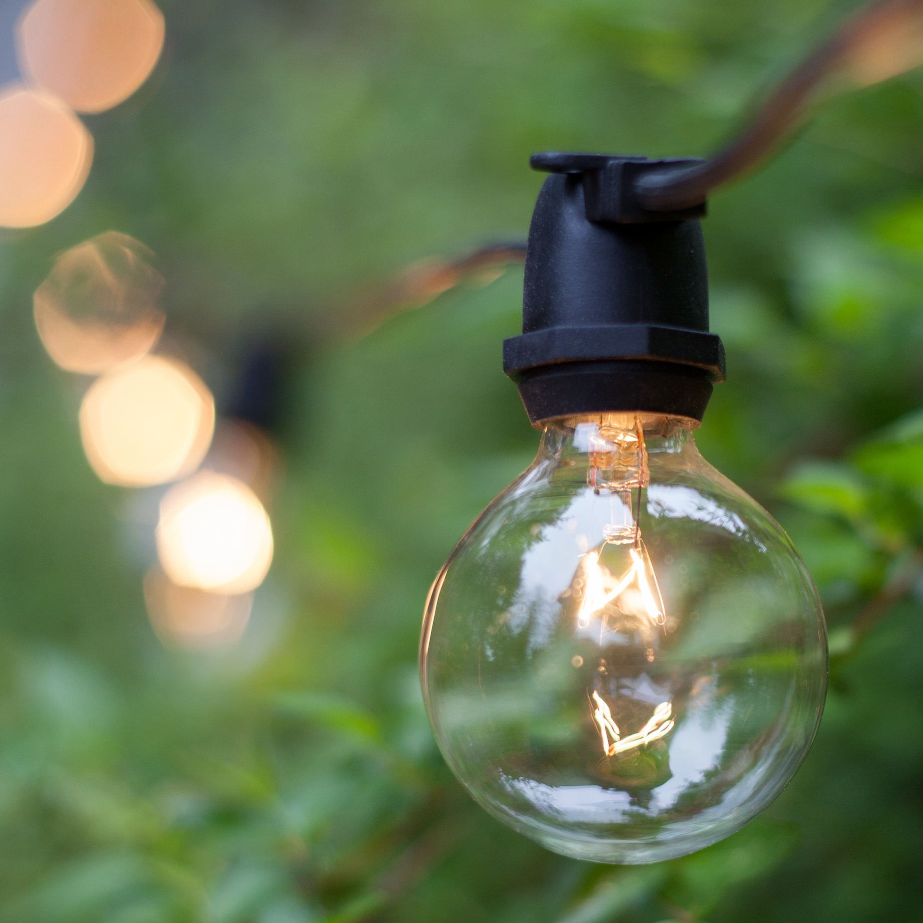 Patio Lights Commercial Clear Globe String Lights 75