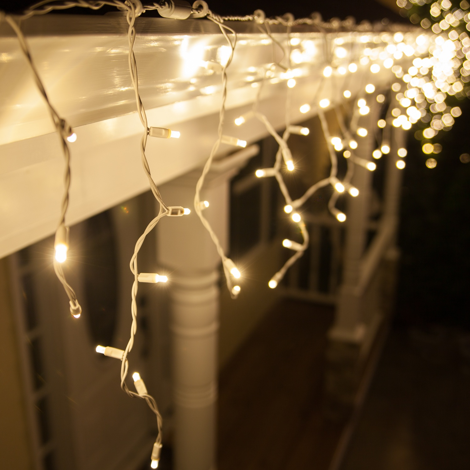 Led Icicle Lights Warm White