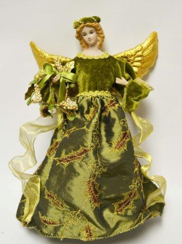Christmas Decorations 12 Quot Green Angel Tree Topper