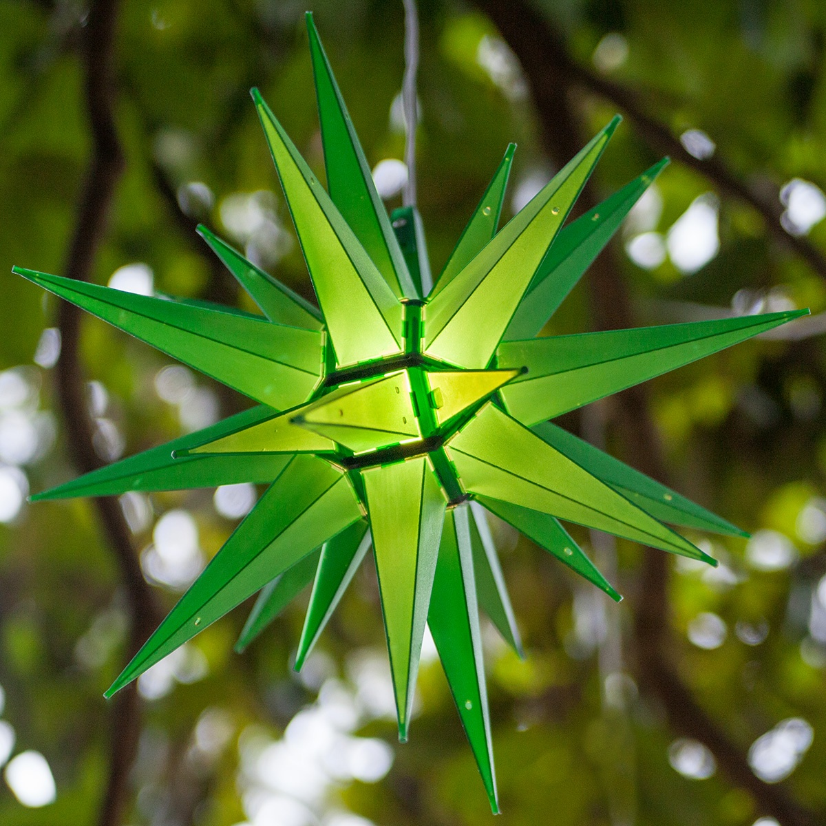 Moravian Stars 14 Quot Green Led Moravian Star