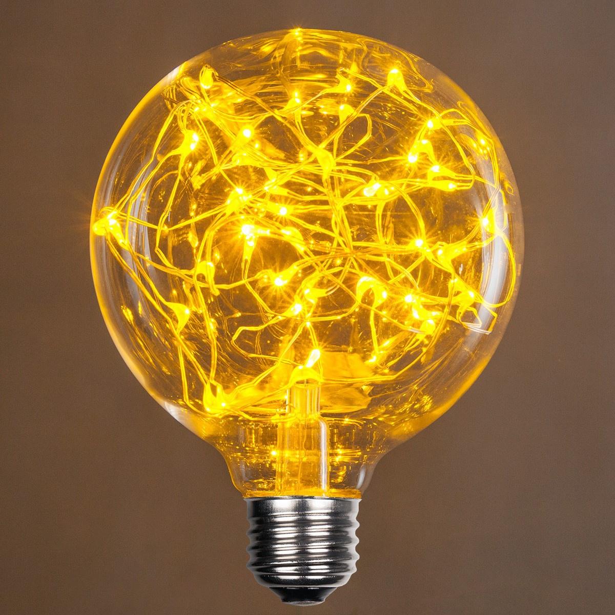 G95 Gold Ledimagine Tm Fairy Light Bulb