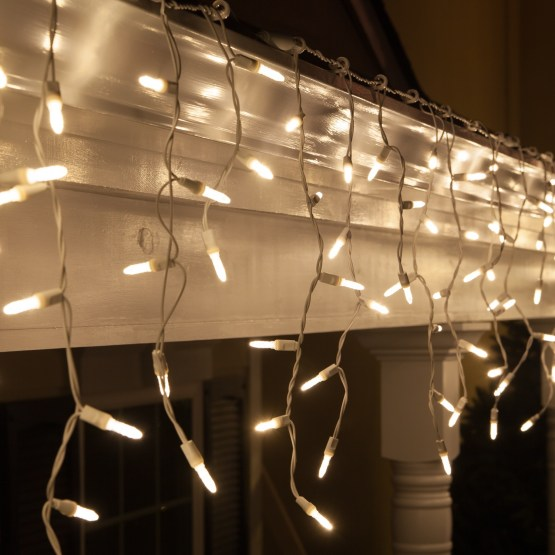 Christmas Lights White Wire