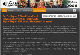 Phases Truck And Auto Repair On Paonia St In Colorado