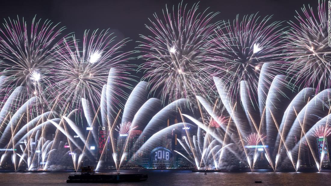 New Year s 2018 celebrations around the world Fireworks explode over Victoria Harbour during New Year celebrations in  Hong Kong