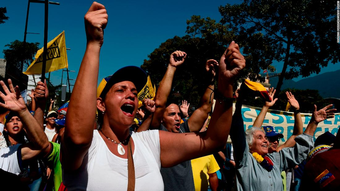 Venezuela Protesters Face Off In Dueling Rallies In