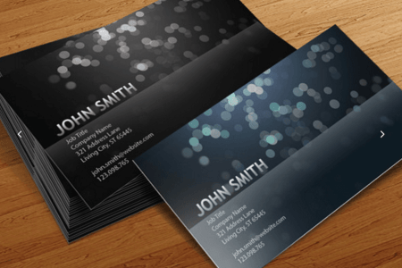 Top 18 Free Business Card PSD Mockup Templates in 2018   Colorlib Blurry Circles Business Card Templates Cursive Q Designs