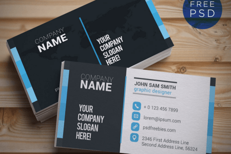 Top 18 Free Business Card PSD Mockup Templates in 2018   Colorlib Creative and Clean Business Card Template PSD PSDFreebies com  PSDFreebies com