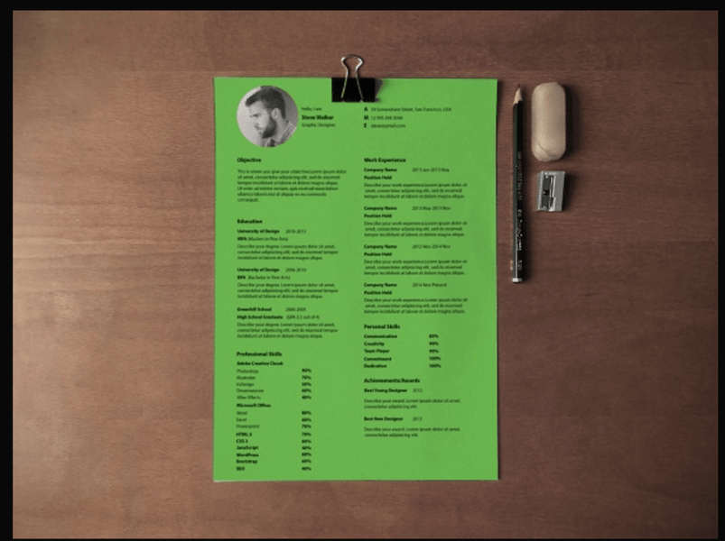 Best Free Resume Templates in PSD and AI in 2018   Colorlib Ultra Minimal Resume by Saptarshi Nath