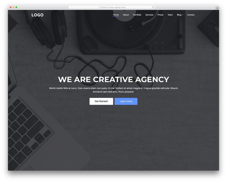 49 Free Simple Website Templates For Clean Sites Using HTML   CSS     Creative Agency is a free website template for everyone in the creative   digital and media fields  Building websites for agencies in the mentioned