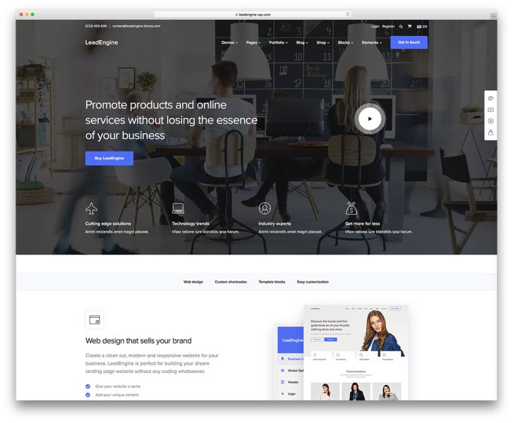 63 Best Clean WordPress Themes 2018   Colorlib This theme is the best solution for webmasters looking to set up shop  online  Unobtrusive and minimalist  LeadEngine lets your content