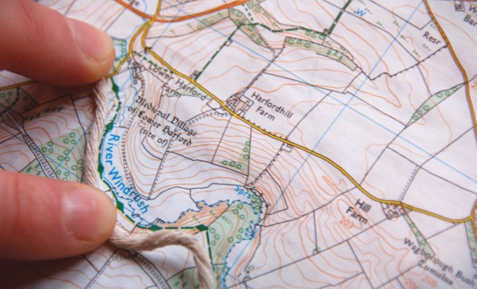 How to Measure Distance on a Map Easily   Cool of the Wild How to measure distance on a map with string