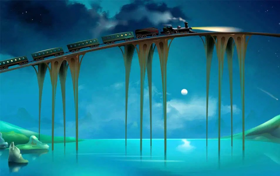 Best High Definition 3D Windows 8 Wallpapers for Your Desktop 3D Bridge Train Wallpaper