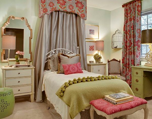 Teenage Girls Bedroom With Circle Canopy Decoist