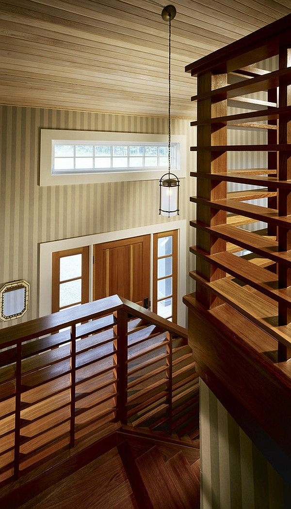 Choosing The Perfect Stair Railing Design Style   Wooden Stair Railings Indoor   Stain White   House   Wooden Balustrade   Custom   Modern