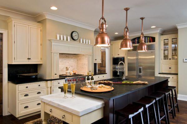 pendant lighting over kitchen island # 37
