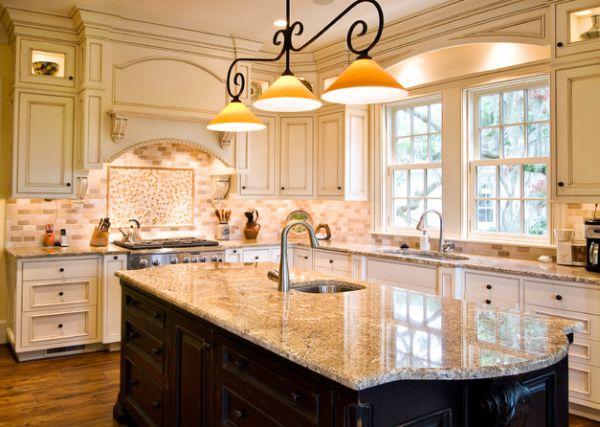 Kitchen Tile Backsplash Bright Color