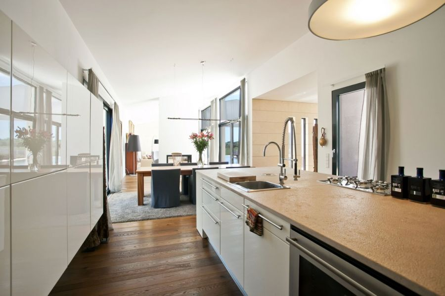 White Kitchen Living Room
