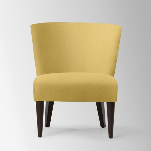 Yellow Patterned Accent Chair