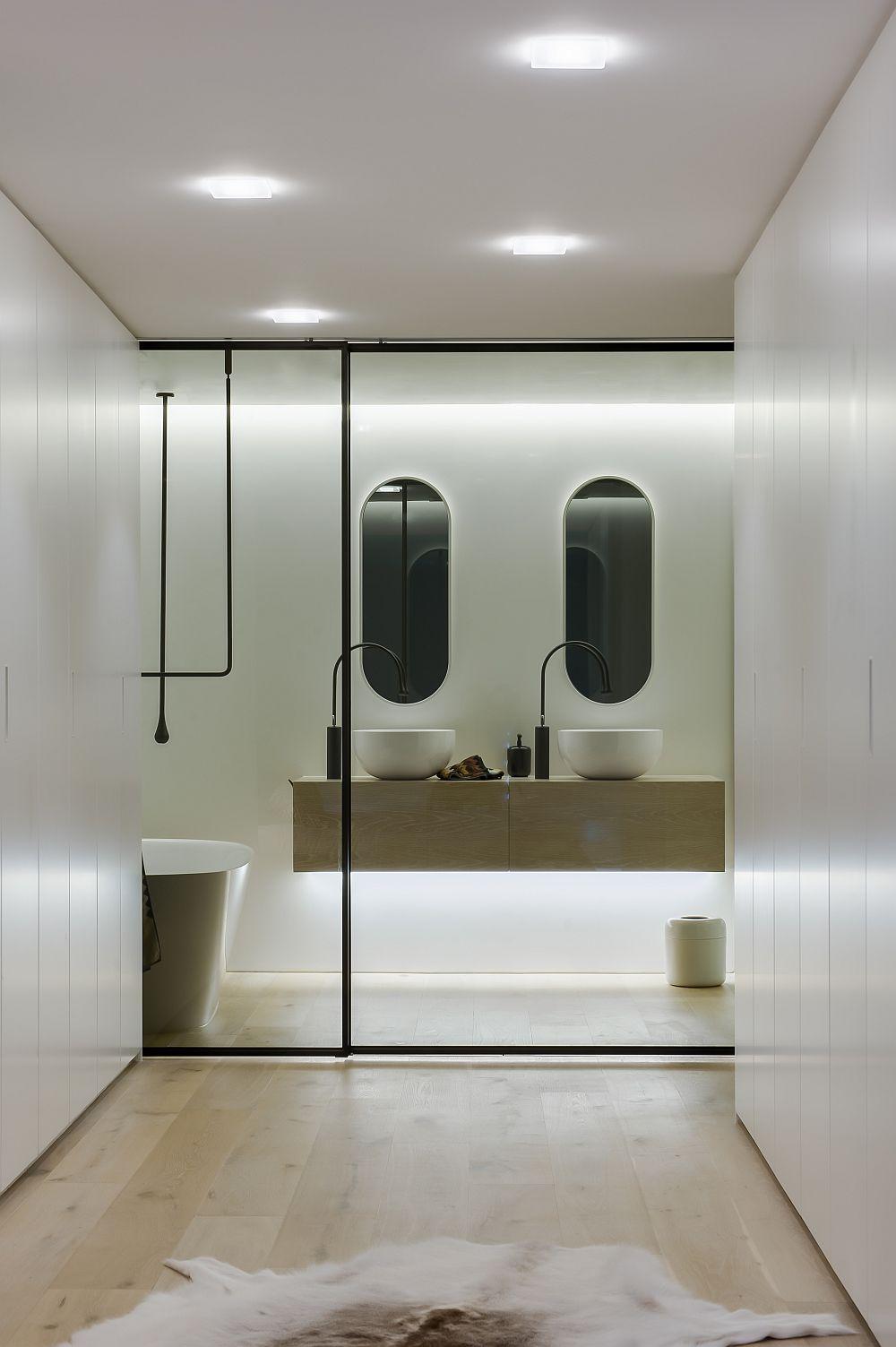 Ingenious Contemporary Bathroom By Minosa Design Refreshingly Radiant