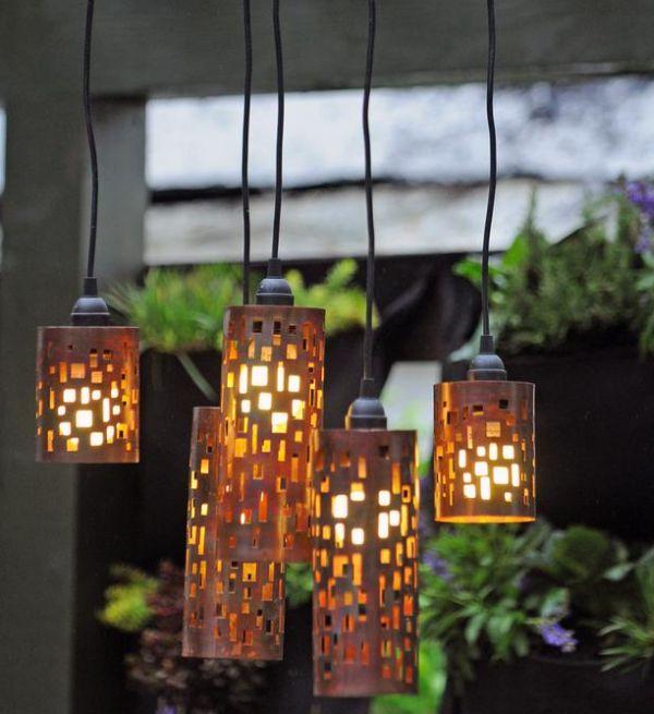 lantern pendant with shade # 47