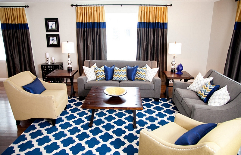 Decorating Your Living Room Blue And Brown