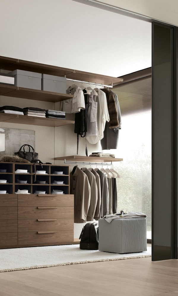 Posh Walk In Closet Saves Up Space With Its Ergonomic