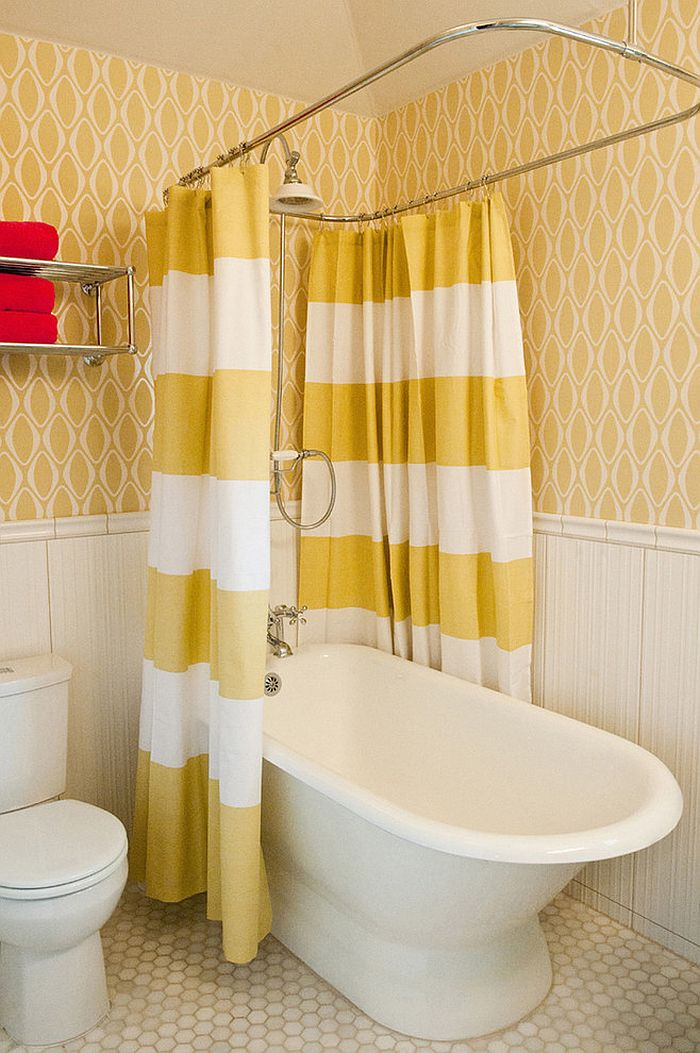Yellow And Green Shower Curtain