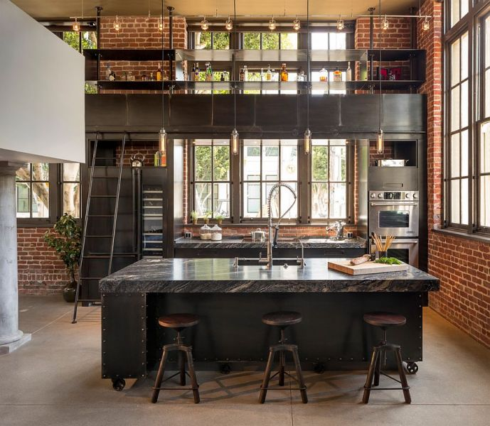 100 Awesome Industrial Kitchen Ideas     Modern industrial style combines aesthetics with ergonomics  Design   Muratore Construction   Design