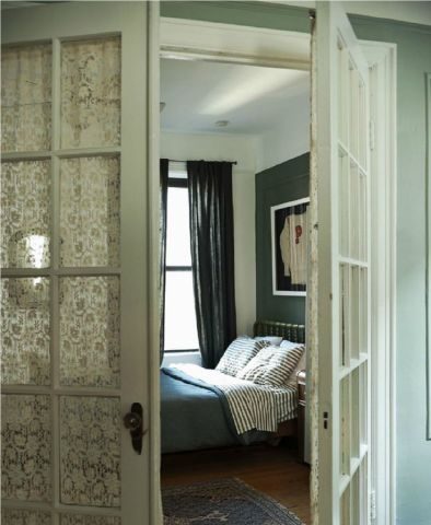 15 Brilliant French Door Window Treatments View in gallery french doors covering lace