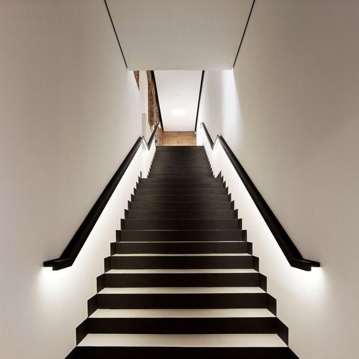 15 Modern Staircases With Spectacular Lighting – Interior Design Blogs | Black Modern Stair Railing | Glass | Raised Ranch | Minimalist | Interior | Chris Loves