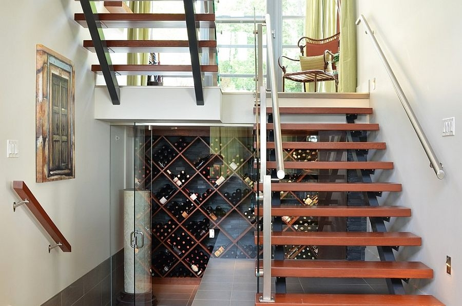 20 Eye Catching Under Stairs Wine Storage Ideas | Stairs Design For Small Space | Steel | Space Saving | Limited Space | Unique | Residential