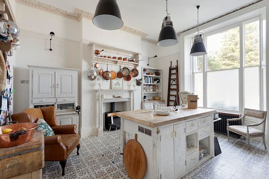50 Fabulous Shabby Chic Kitchens That Bowl You Over  View in gallery Beautiful shabby chic style kitchen with tiled flooring   From  Bruce Hemming Photography