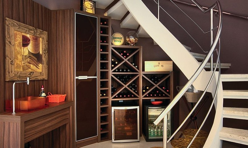 20 Eye Catching Under Stairs Wine Storage Ideas | Bar Under Stairs Design | Stair Storage | Basement Remodeling | Floating Shelves | Space | Escaleras