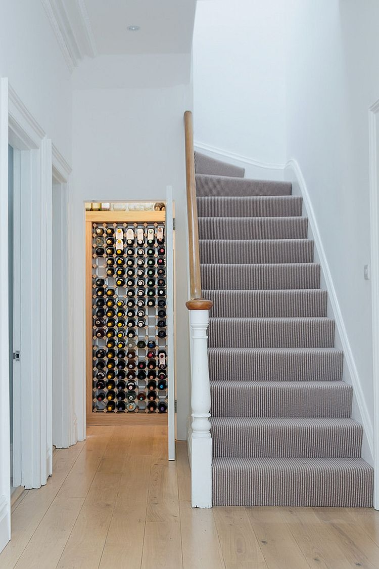 20 Eye Catching Under Stairs Wine Storage Ideas   Best Stair Design For Small House   Stair Railing   Space   Space Saving Staircase   Stair Case   Loft Stairs