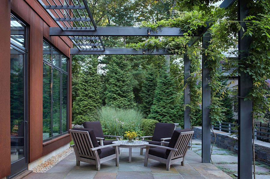 Cor Ten Steel Structure Gives Georgian Revival Home A
