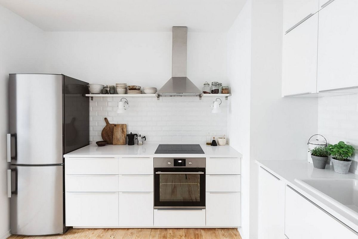 Small All White Kitchen