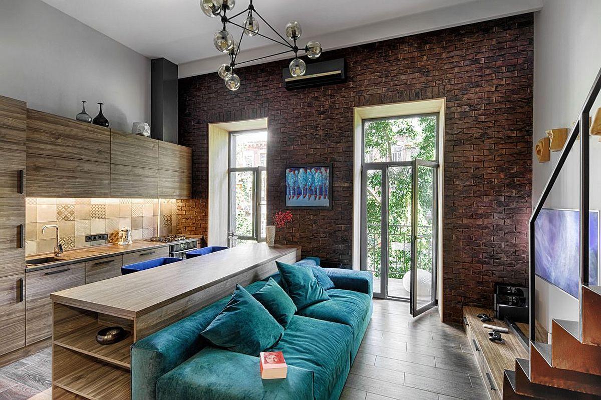 Mezzanine Level Bedroom Adds Extra Space To Small Kiev