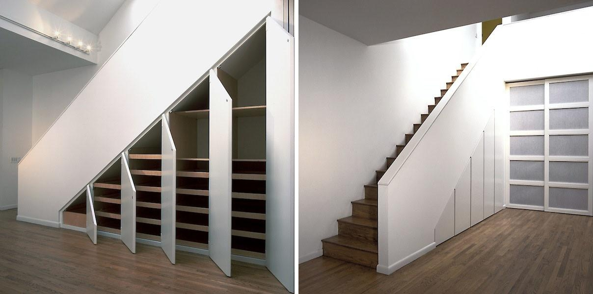 38 Extremely Beautiful Bedroom Under Stairs Storage Ideas That | Modern Under Stairs Storage | Hallway Understairs Storage | Grey | Home Stair | Bajo | Minimal