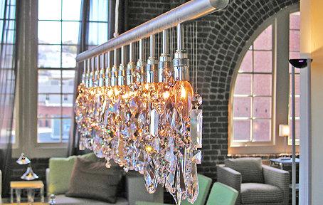 linear strand crystal chandelier z gallerie # 30