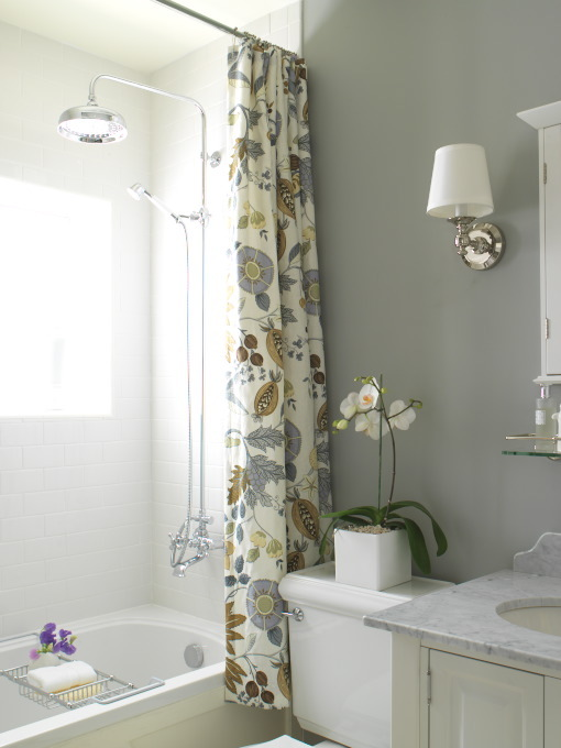 Yellow And Blue Shower Curtain