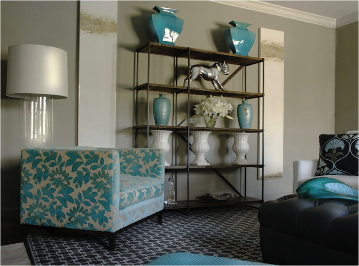 Living Room Turquoise Accents