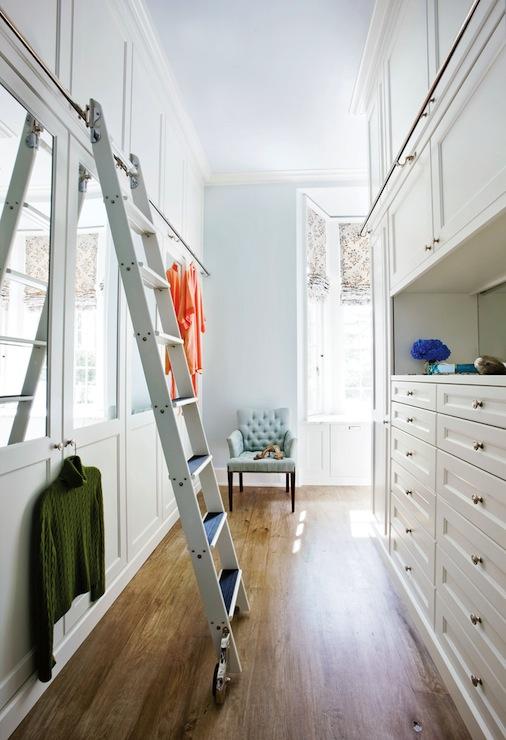 Ladder For Closet Transitional Closet Atlanta Homes