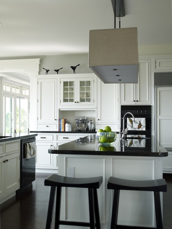Rectangular Shade Pendant Transitional Kitchen Bella