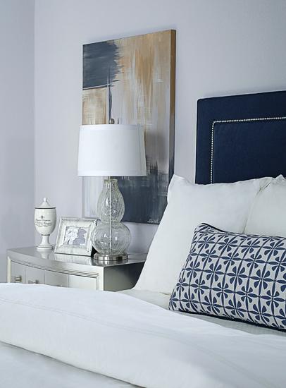 Gray Headboards Purple Bedroom