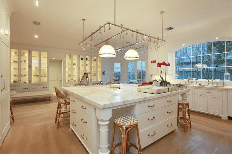 Oversized Kitchen Island Transitional Kitchen Cote