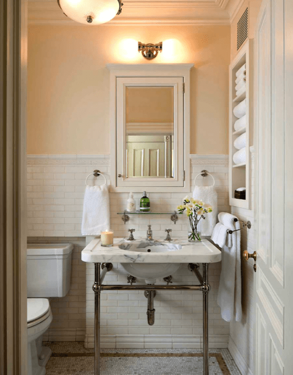 Ivory And Gold Bathroom Accessories